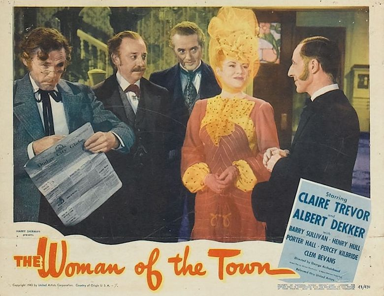 The Woman of the Town Poster