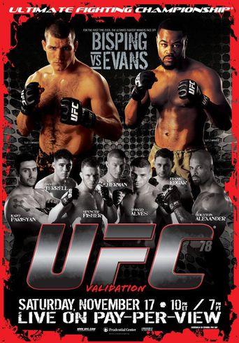 UFC 78: Validation Poster
