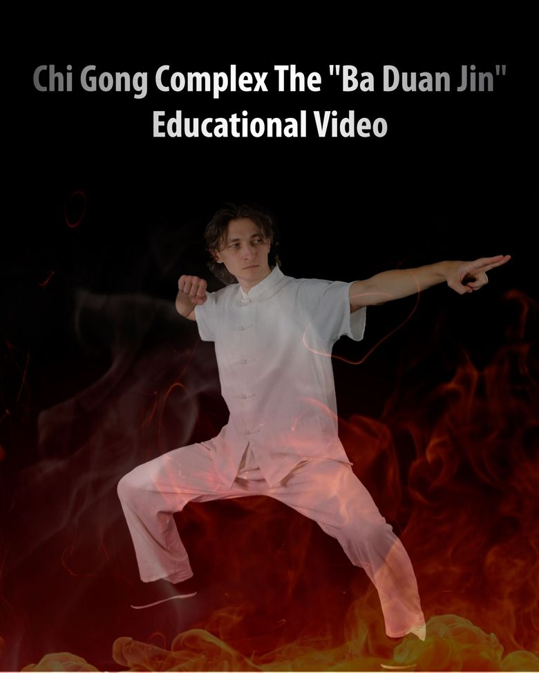 Chi Gong complex - The Ba Duan Jin. Educational Poster