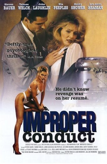 Improper Conduct Poster