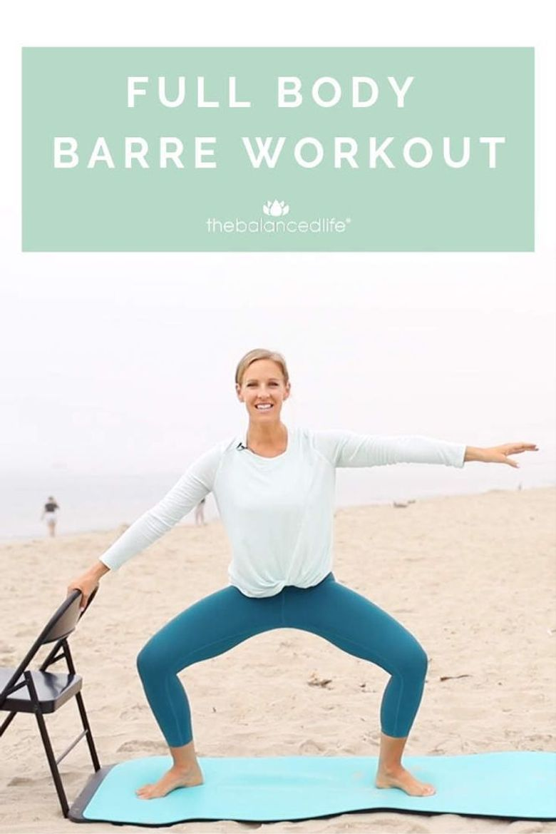 Full Body Barre Workout Poster