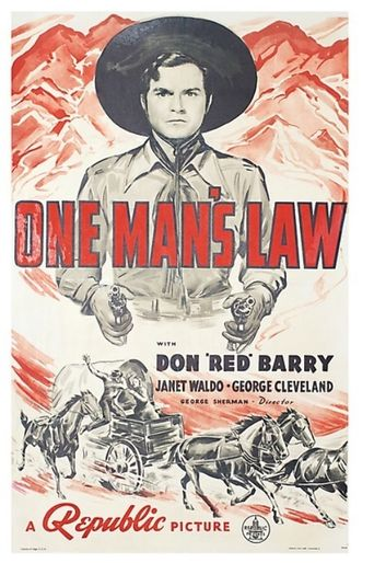 One Man's Law Poster