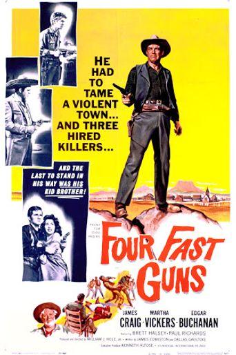 Four Fast Guns Poster