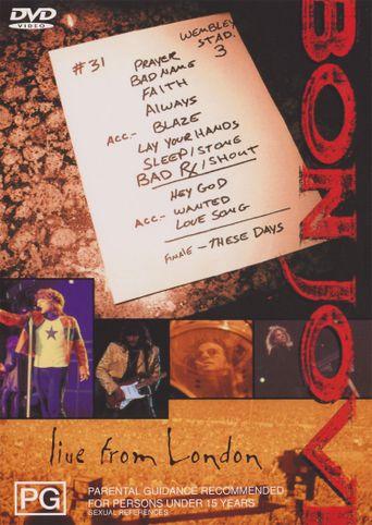 Bon Jovi: Live from London Poster