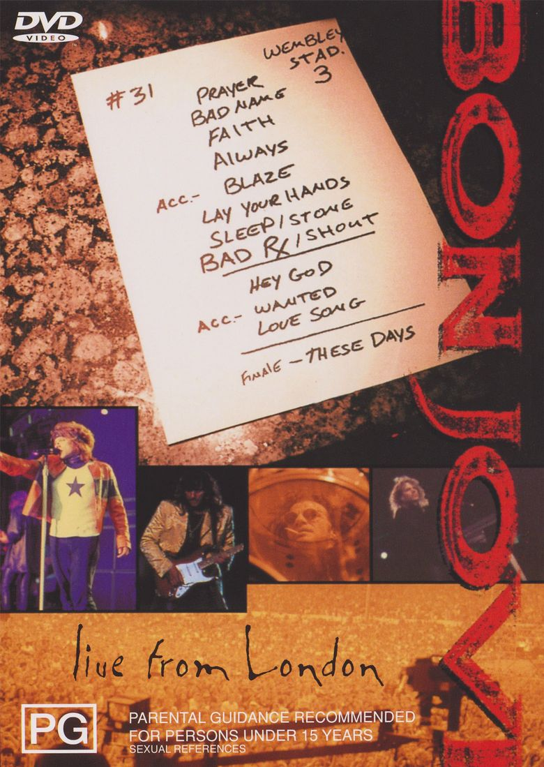 Bon Jovi: Live from London (1995) - Where to Watch It