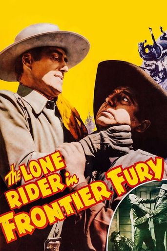 The Lone Rider in Frontier Fury Poster