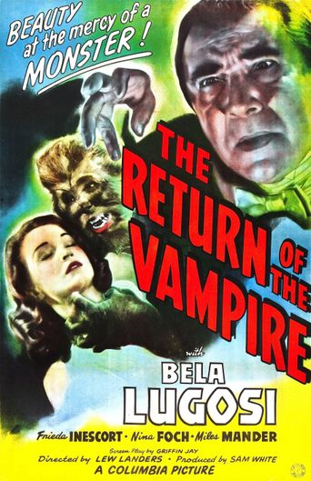 The Return of the Vampire Poster