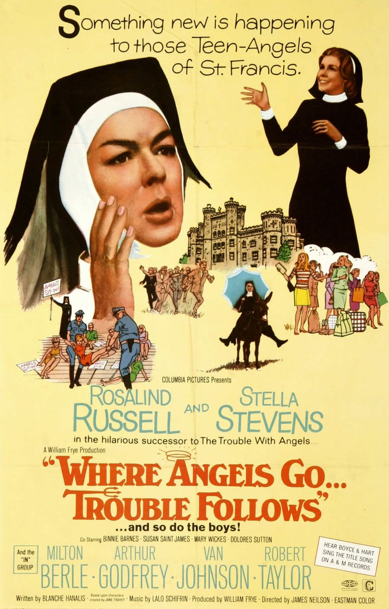 Where Angels Go, Trouble Follows Poster