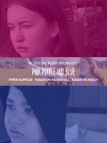 Pink Purple and Blue Poster