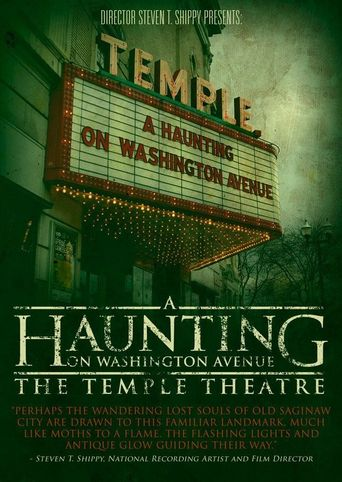 A Haunting on Washington Avenue: The Temple Theatre Poster