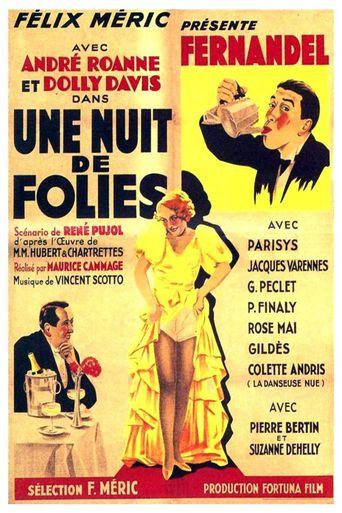 Une nuit de folies Poster