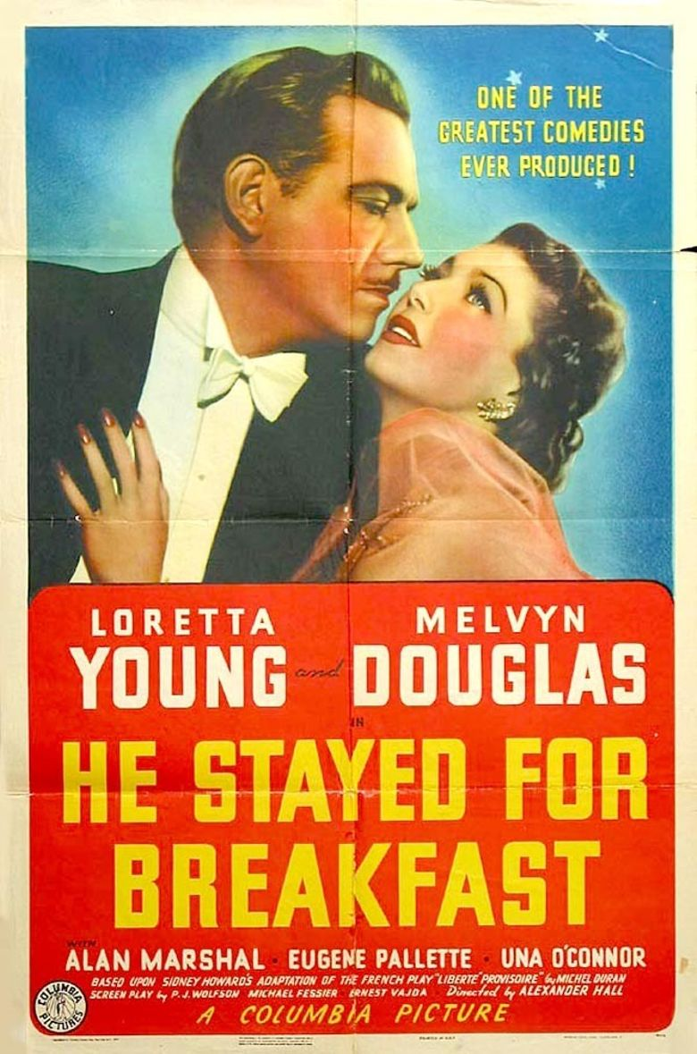 He Stayed for Breakfast Poster