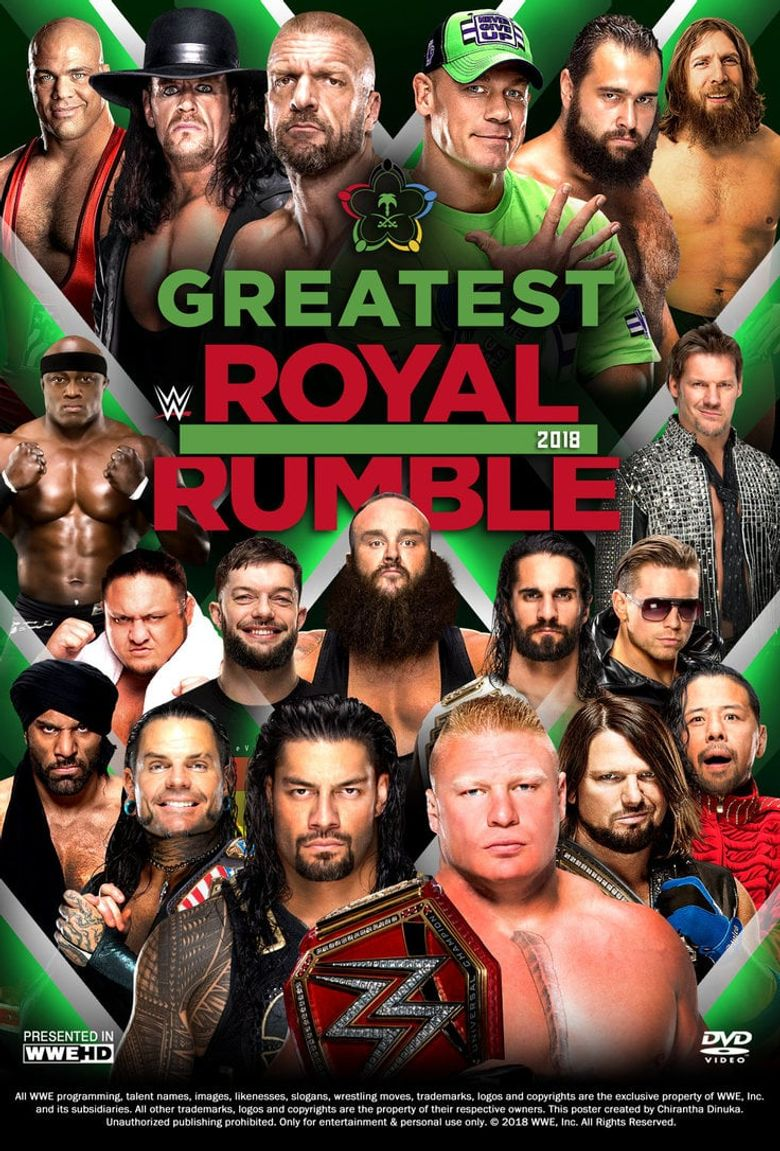 WWE Greatest Royal Rumble 2018 Poster