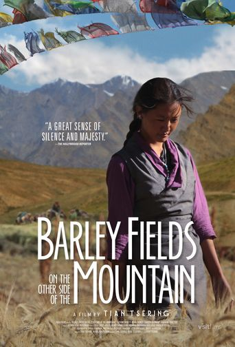 Barley Fields on the Other Side of the Mountain Poster