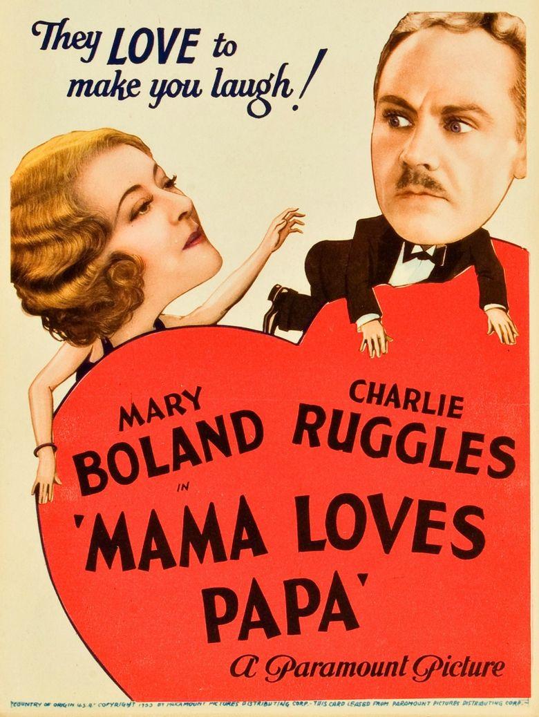 Mama Loves Papa Poster