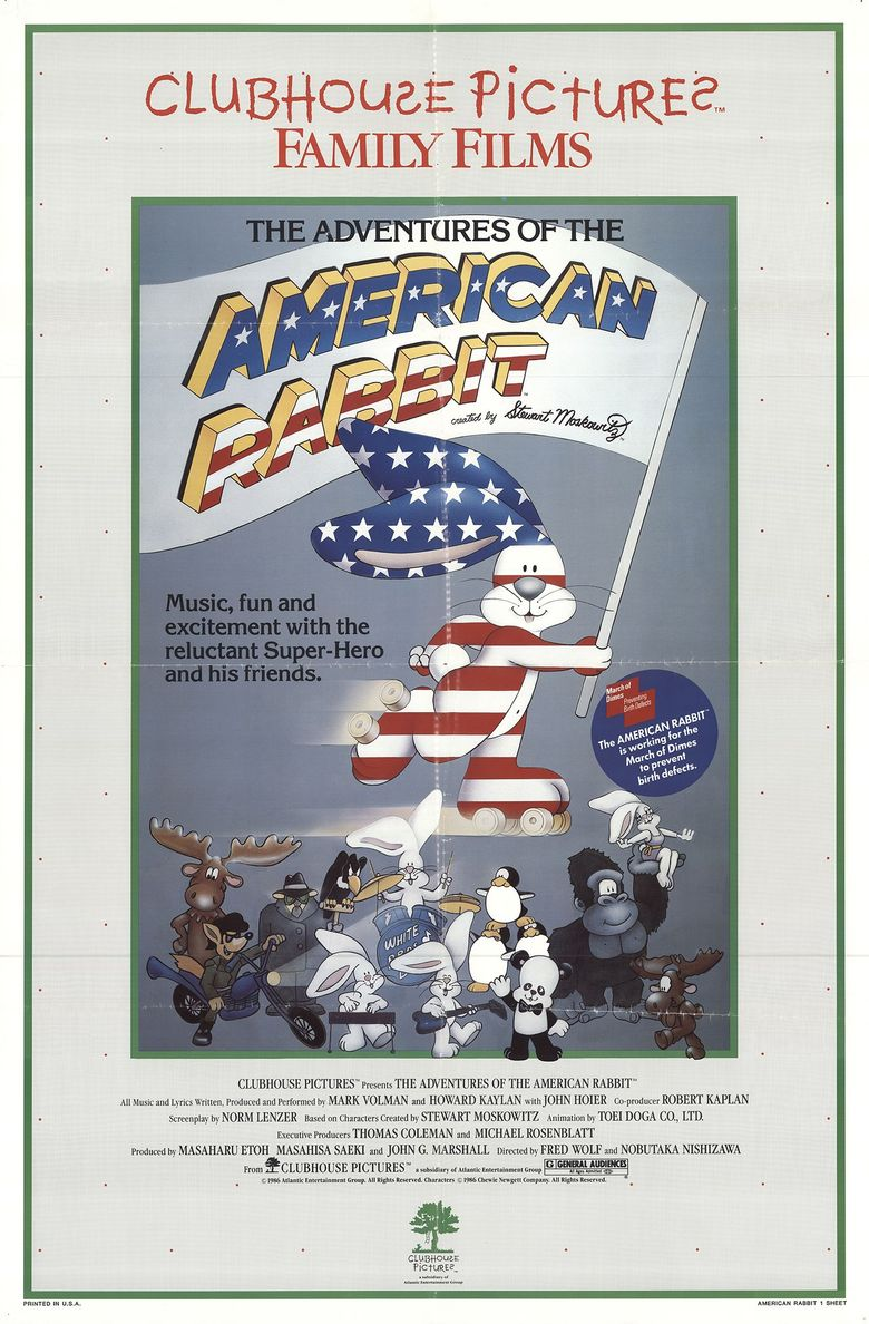 The Adventures of the American Rabbit Poster