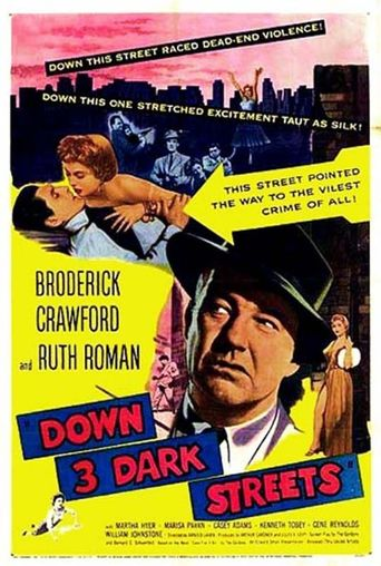 Down Three Dark Streets Poster