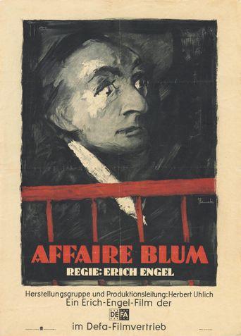 The Blum Affair Poster
