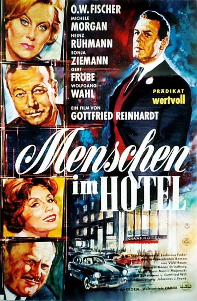 Menschen im Hotel Poster