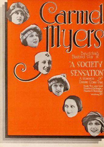 A Society Sensation Poster