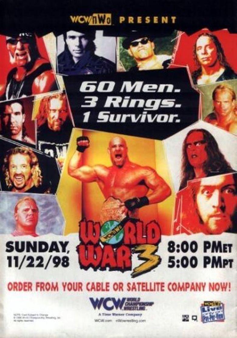 WCW World War 3 1998 Poster