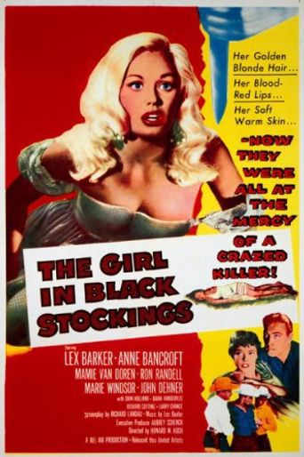 The Girl in Black Stockings Poster