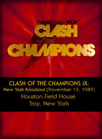 WCW Clash of the Champions IX: New York Knockout Poster