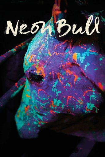 Neon Bull Poster