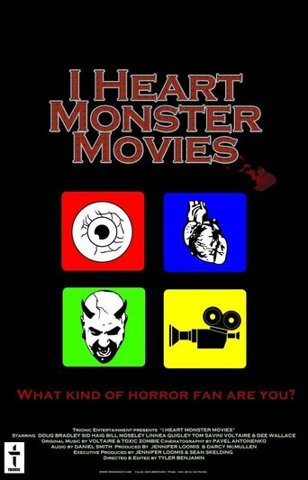 I Heart Monster Movies Poster