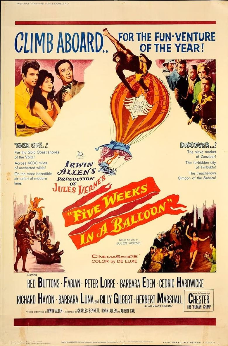 Five Weeks in a Balloon Poster