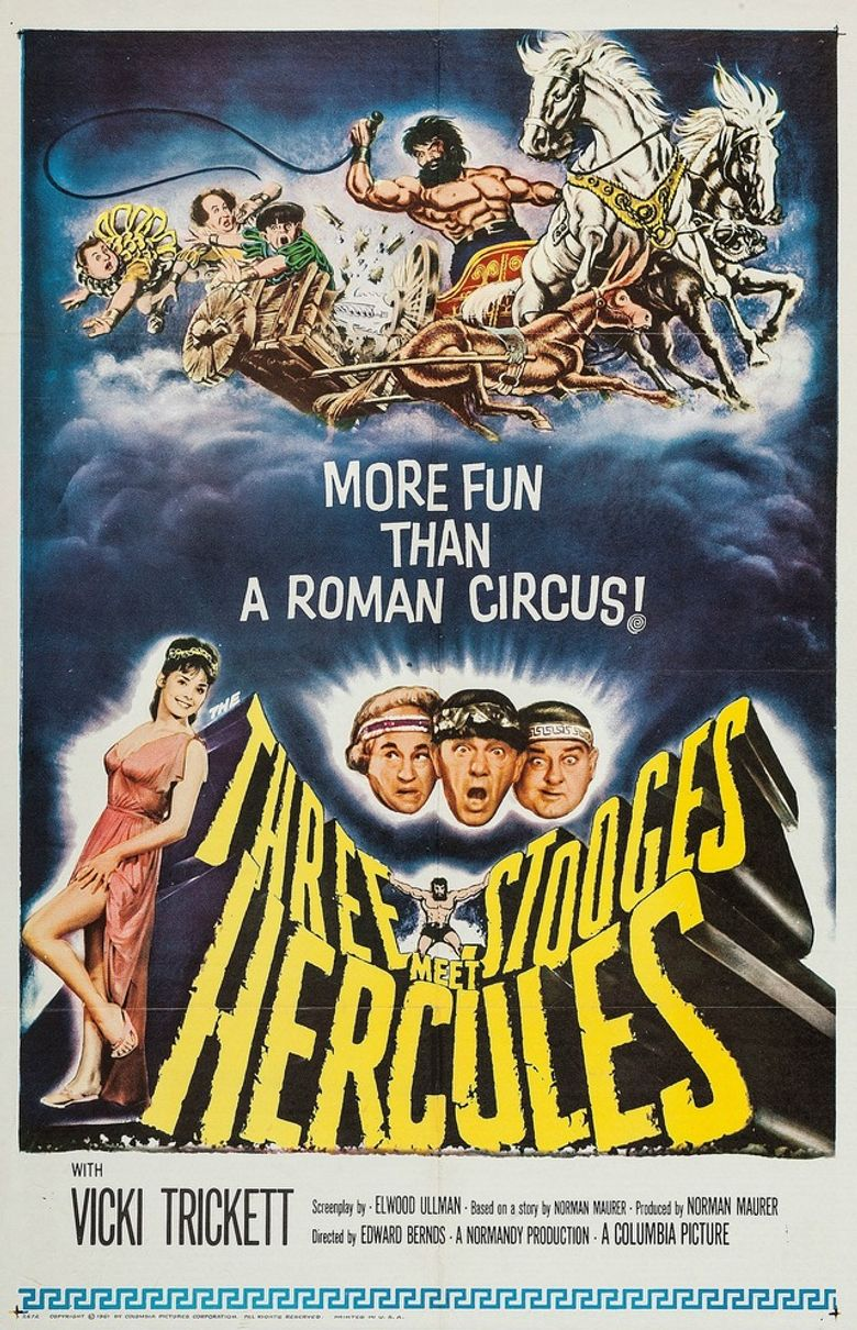 The Three Stooges Meet Hercules Poster