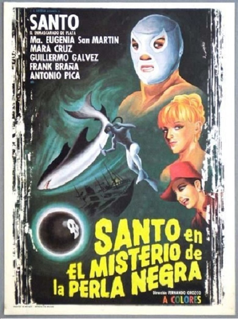 Santo in the Mystery of the Black Pearl Poster