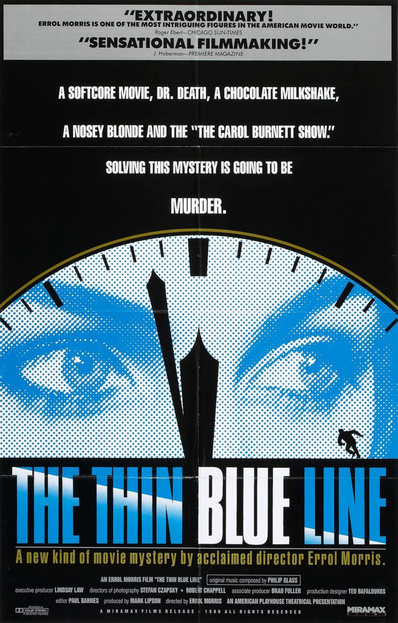 The Thin Blue Line Poster