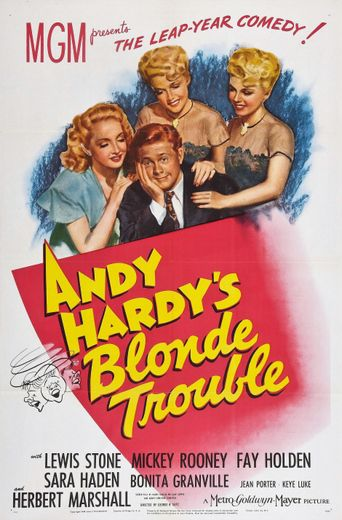 Andy Hardy's Blonde Trouble Poster