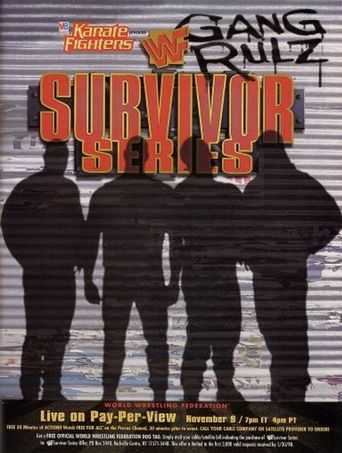 WWE Survivor Series 1997 Poster