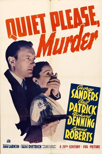 Quiet Please Murder Poster