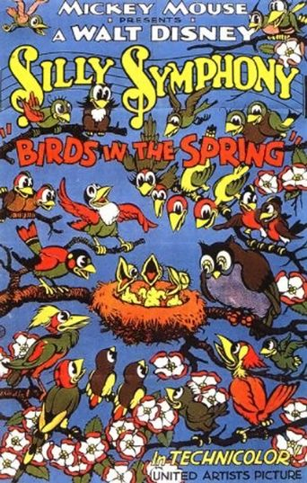 Birds in the Spring Poster