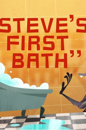 Steve's First Bath Poster