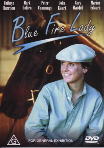 Blue Fire Lady Poster