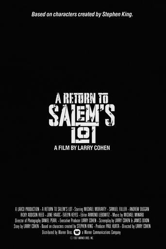 A Return to Salem's Lot Poster