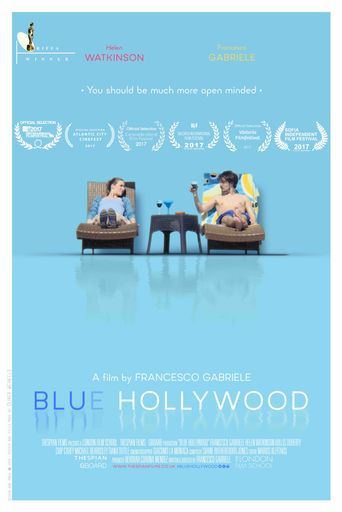 Blue Hollywood Poster
