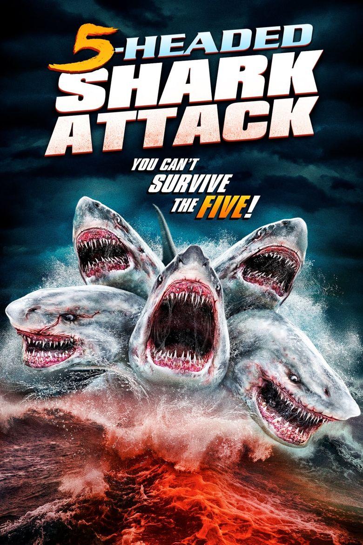 5 Headed Shark Attack Poster