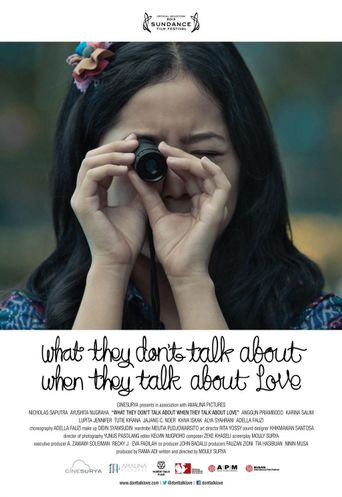 What They Don't Talk About When They Talk About Love Poster