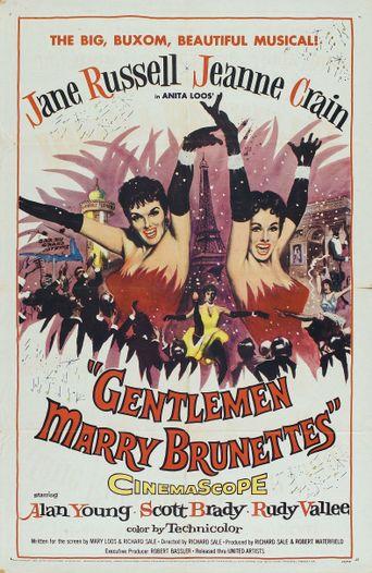 Gentlemen Marry Brunettes Poster