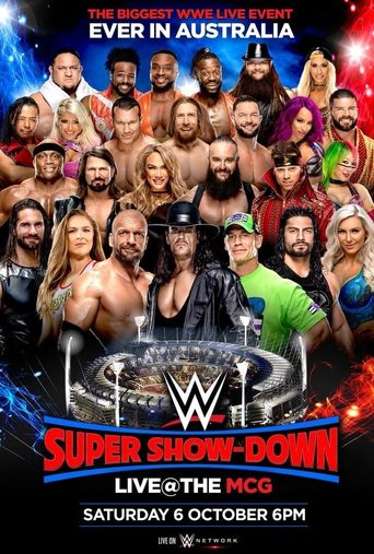 WWE Super Show-Down 2018 Poster