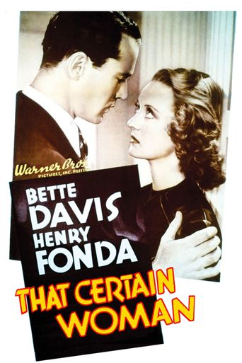 That Certain Woman Poster