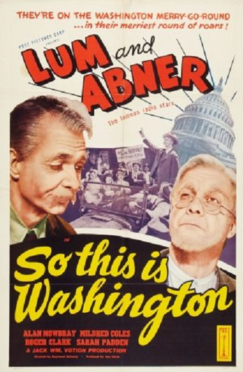 So This Is Washington Poster