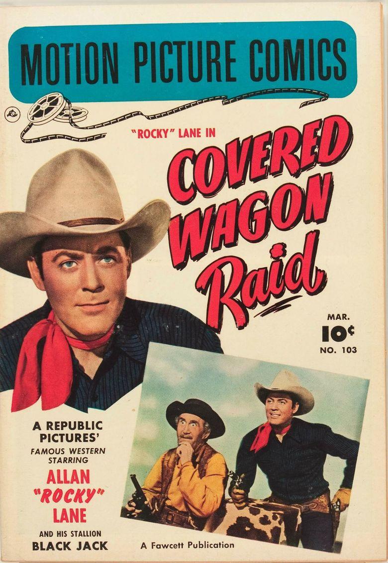 Covered Wagon Raid Poster