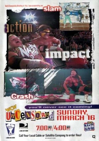 WCW Uncensored 1997 Poster