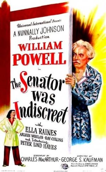 The Senator Was Indiscreet Poster